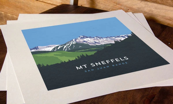 Mount Sneffels Colorado 14er Print