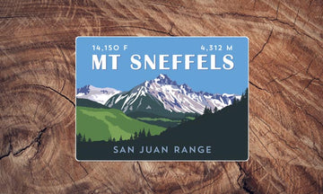 Mount Sneffels Colorado 14er Sticker
