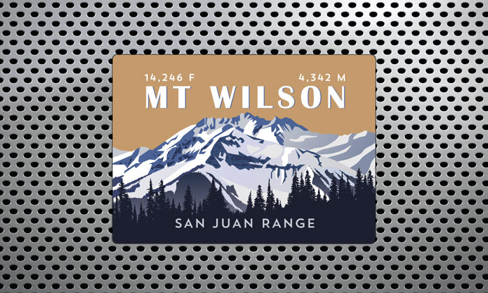 Mount Wilson Colorado 14er Magnet