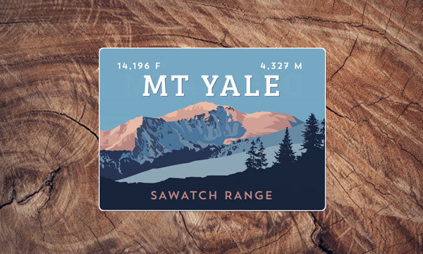 Sawatch Range Colorado 14er Sticker Pack