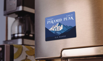 Pyramid Peak Colorado 14er Magnet