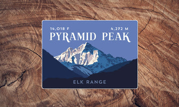 Pyramid Peak Colorado 14er Sticker