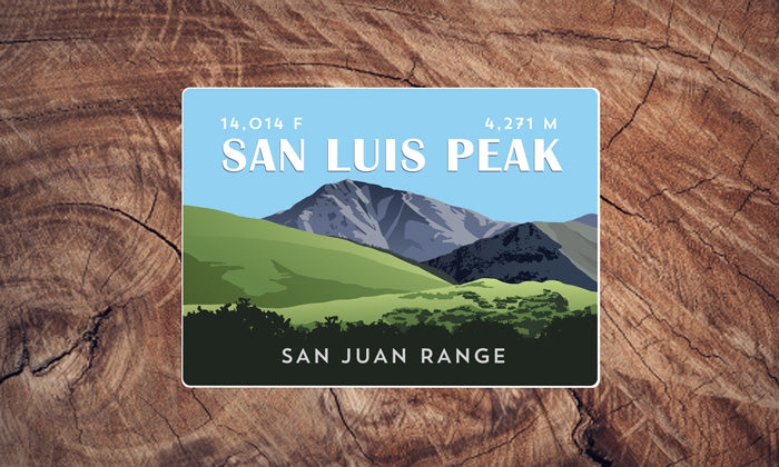 San Luis Peak Colorado 14er Sticker