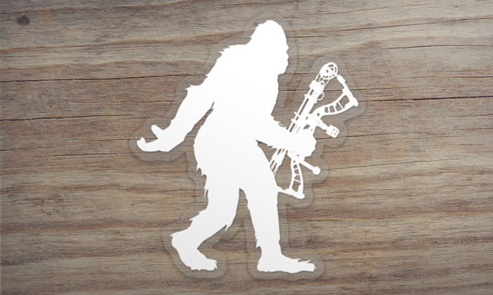 Sasquatch Archery Hunting Die Cut Sticker