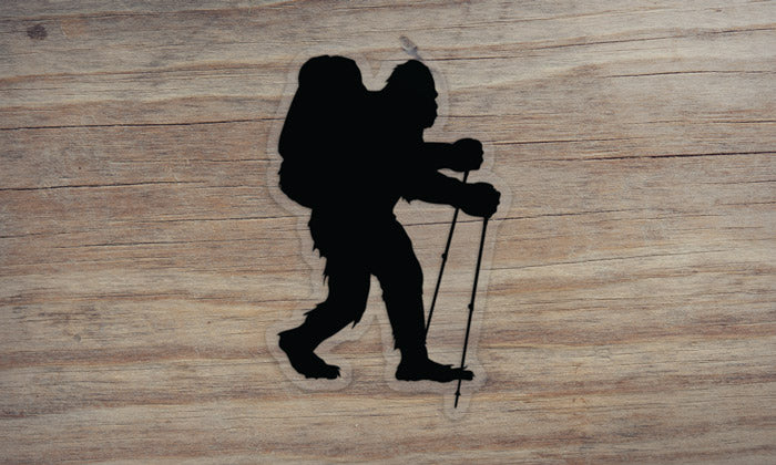 Sasquatch Backpacking Die Cut Sticker