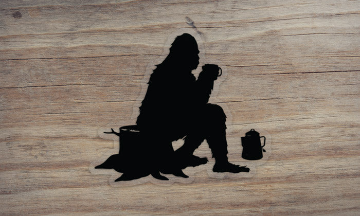 Sasquatch at Camp Die Cut Sticker