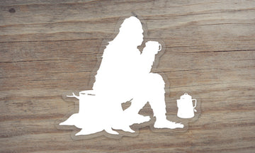 Sasquatch at Camp Clear Die Cut Sticker