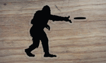 Sasquatch Frisbee Die Cut Sticker