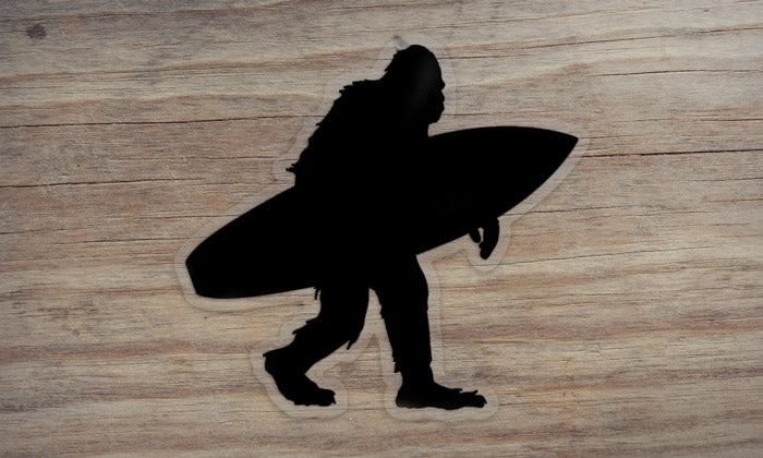 Sasquatch Surfing Die Cut Sticker