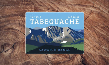 Tabeguache Peak Colorado 14er Sticker