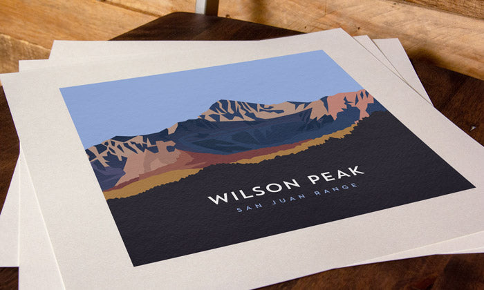 Wilson Peak Colorado 14er Print