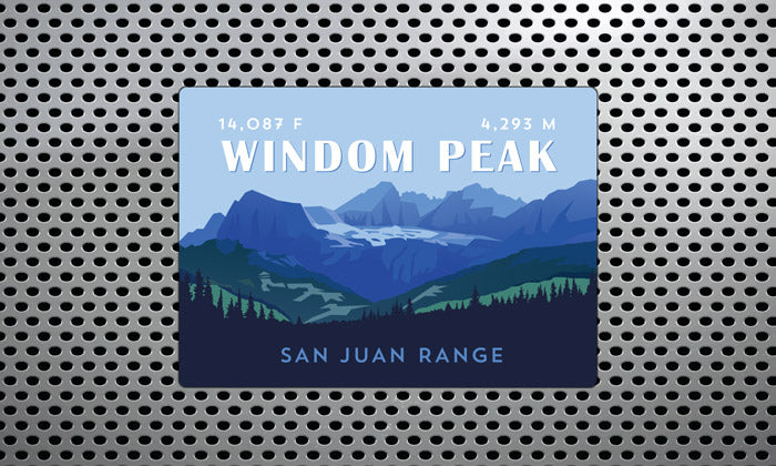 Windom Peak Colorado 14er Magnet