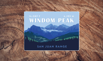 Windom Peak Colorado 14er Sticker