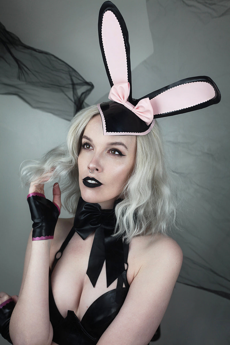Latex bunny ears fascinator