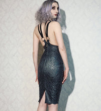 Latex-lace Cincher Harness Dress