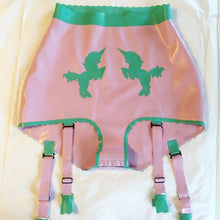 High waisted latex unicorn briefs