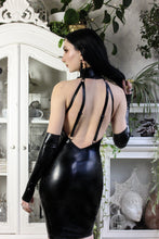 Bondage strap latex dress
