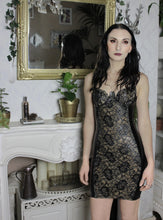 Latex-lace panel dress