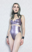 Latex-lace choker and cuffs set