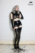 Banded latex stockings