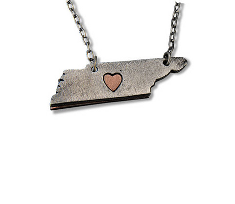 My Heart Belongs to Tennessee Necklace