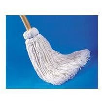 AWM7932 WET MOP DECK MOP CUT END 4PLY WHITE W/HANDLE 32OZ