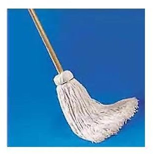 AWM7920 WET MOP DECK MOP CUT END 4PLY WHITE W/HANDLE 20OZ