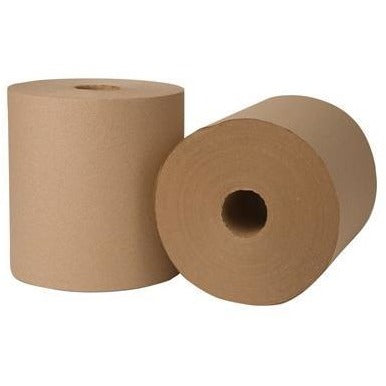 "45800 ECO NATURAL ROLL TOWEL 8""X800' GREEN SEAL 6/CS"