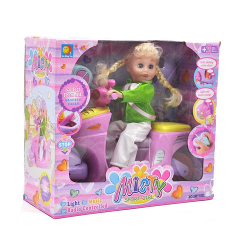 Remote Control Musical Scooty Doll Price in Online