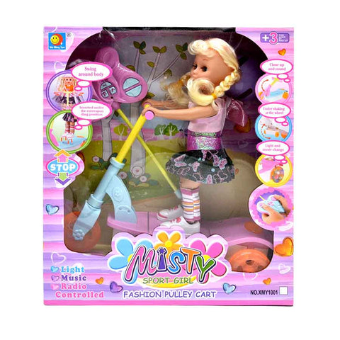 Beautiful Remote Control Record Walking Music Light Doll Toy In Jadroo