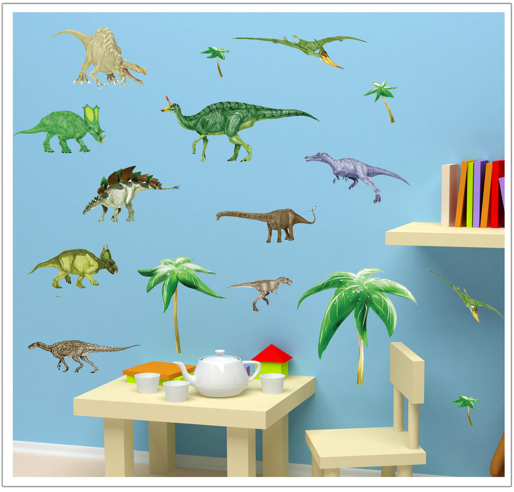 Dinosaur Cartoon Stickers Collection in BD