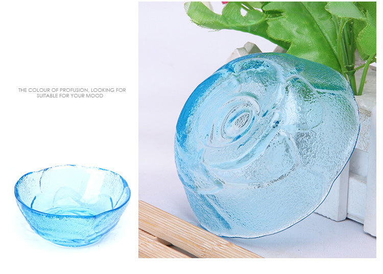 Flower Design Colored Glass Bowl Price in Online