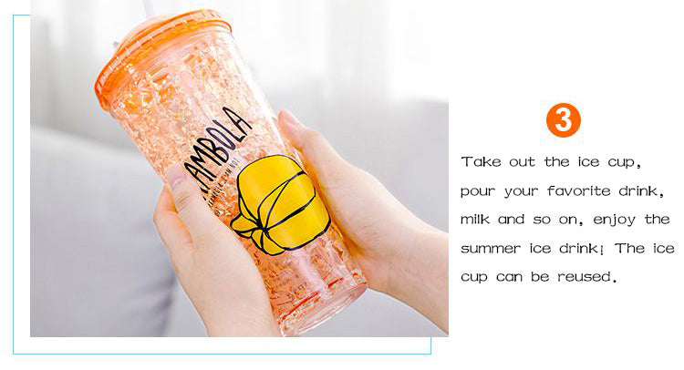 Double Layer Ice Cup Plastic Water Bottle in Online