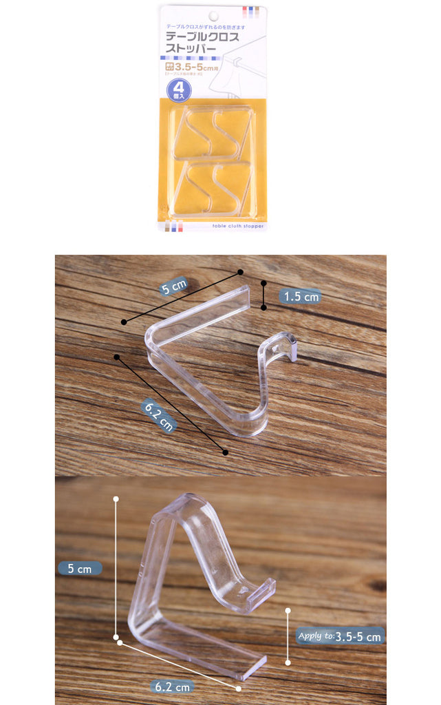 Table Cloth Clip Size