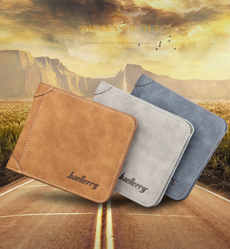 Men Wallet Leather Vintage Purses HQ Money Bag Credit Card holders