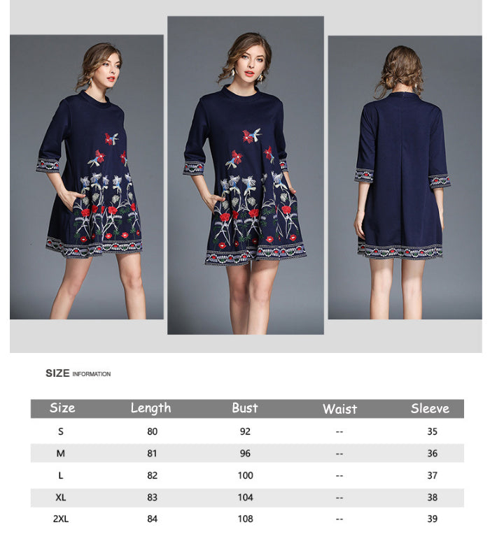 Point Sleeves Fashionable Lady Dress