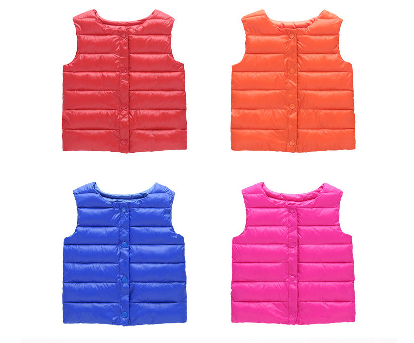 Assorted Color Children Comfortable Winter Vest Price in BD