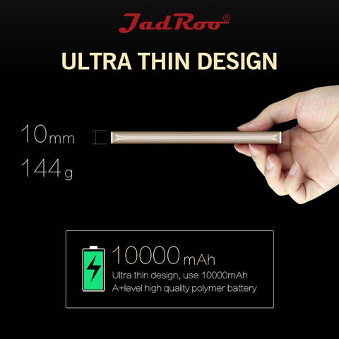 JadRoo 10000mAh Power Bank