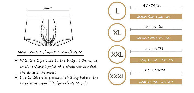 Leading Manufacturer of Undergarments Men's Underwear size suggestion