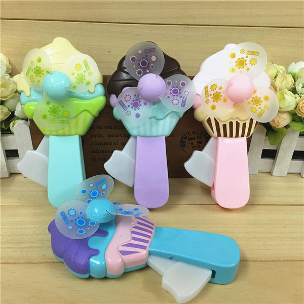 Ice Cream Manual Mini Handy Fan Price in Online