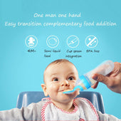 Infant Food Feeding Bottle,Baby Care Bottle,Silicone Extrusion Type Feeding Tool