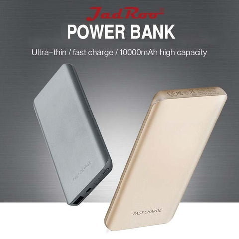 JadRoo 10000mAh Portable Battery Charger - External Battery Pack, Power Bank