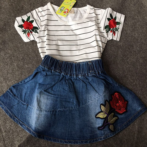 CLOTHES FOR GIRLS,T SHIRT WITH DRESS,FULL SET