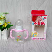 Best manufacturing eco-friendly wide neck baby feeding bottle with handle 150ml