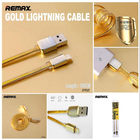 REMAX USB Charging & Data Transfer Cable, 1m, Golden,Samsung mobile charging cable