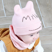 Baby Feeding Bib & Beanie Hat/Cap Set