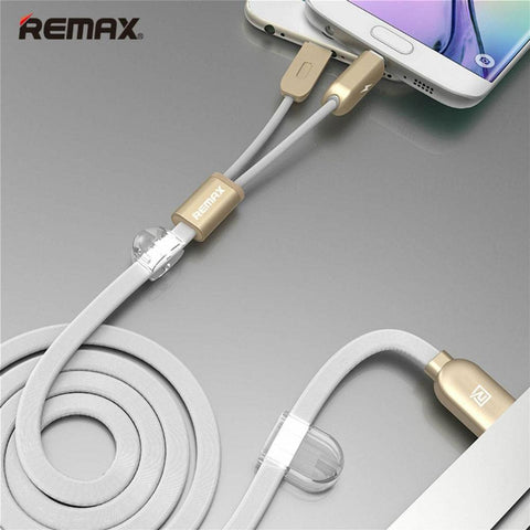 REMAX 2 In 1 USB Cable with Magnetic,Data Sync Cable for iPhone and Android Smartphone