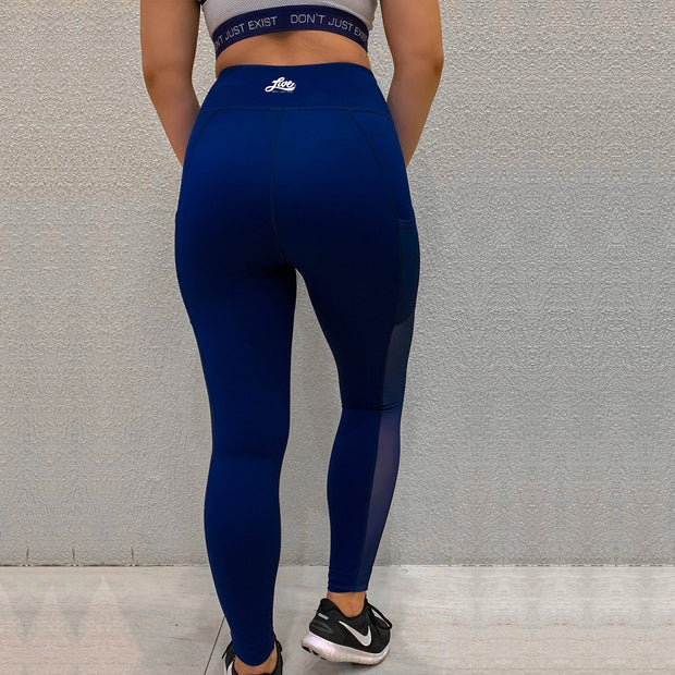 Blue Active Leggings