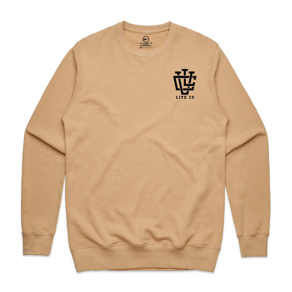Tan LVCO Male Crew Neck