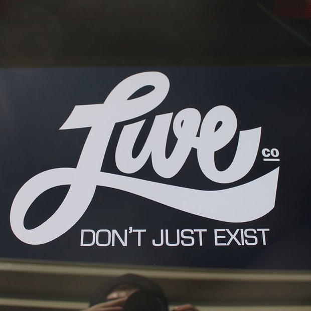 Live.Co - Don't Just Exist Vinyl Stickers